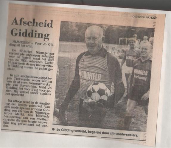 Afscheidswedstrijd Jo Gidding